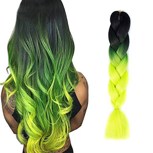 Hair Parámetro   característica:  kanekalon es la fibra más popular utilizada en trenzas, giros y dreads sintéticos.   siempre se sentirá hermoso y sexy con el aspecto natural y la sensación de Ombre 100% kanekalon Trending pelo.   Ombre trenzado de...