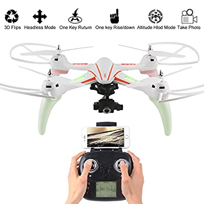 LiDi RC Q696-E WiFi Real-time transmission Drone with 720P HD Camera, One-Key Landing and Take Off RC Quadcopter
