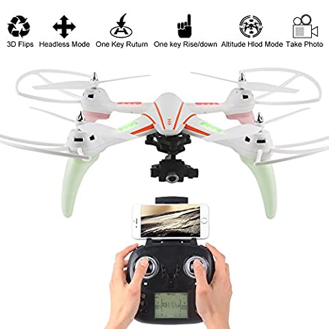 LiDi RC Q696-E WiFi Transmission en temps réel Drone avec caméra HD 720P, One-Key Landing et Take Off RC Quadcopter