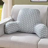 Sofakissen, dreidimensionales T-förmiges Kissen mit abnehmbarem Bezug für Sofa, Bett, Büro, Stuhl, Auto, Salon Corrugated grid