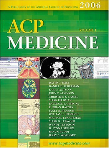 acp-medicine-2006-edition-two-volume-set-by-david-c-dale-2005-09-30