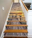 3D Zwielicht Blick Aufs Meer 9 Stair Risers Dekoration Fototapete Vinyl Aufkleber Tapete DE Carly (13x H:18cm x W:94cm (7