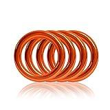 Ganzoo O - Ring aus Stahl, 4er Set, DIY Hunde-Leine/Hunde-Halsband, nichtrostend, Ideal mit Paracord 550, geschweißt, Farbe: orange