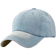 Leisial Ocio Gorra de Béisbol de Vaquero Color Sólido Ajustable del Sombrero al Aire Libre Hats Hip-Hop Verano Primavera para Hombre Mujer,Negro