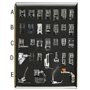 32pcs Low Shank sistema cucito macchina Presser piedi insieme elemento Servizi strumento Sundries casa casalinghi accessorio