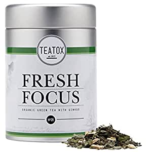 TEATOX Fresh Focus, Bio Grüntee mit Ginkgo und Ginseng, Dose