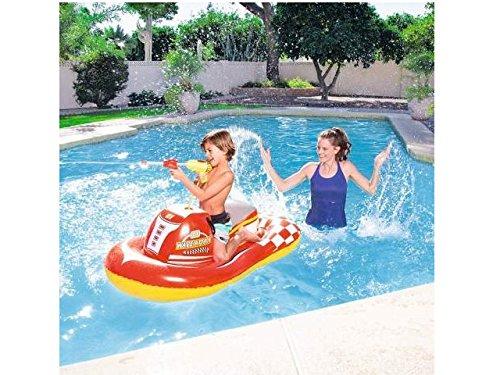 Hinchable de piscina playa montar moto de agua 140x 84cm bes040