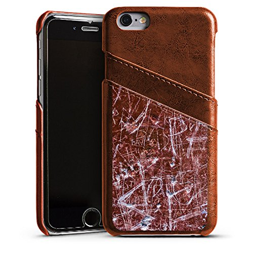Apple iPhone 5s Housse Étui Protection Coque Rouille Egratignure Motif Étui en cuir marron