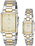 Titan NH19552955BM02 Bandhan Analog Champagne Dial Couple Watch (NH19552955BM02)