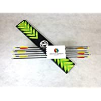 12 Pack x 26 ASD Archery Black Fibreglass Arrows