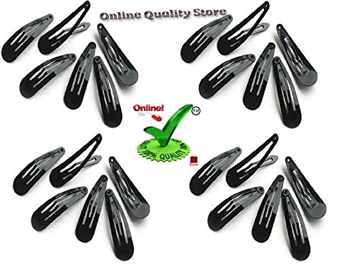 Online Quality Store Daily Use Black Metal Triangular Tic Tac Hair Clips for Girls and Women ( 24 pcs)  available at amazon for Rs.99