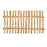 Zaunelement Haselnuss • 90 Größen • 100 x 200 cm (7-9 cm) • Staketenzaun Bausatz für Lattenzaun / Bretterzaun aus Haselnuss inkl. Querriegel, Zaunlatten und Schrauben