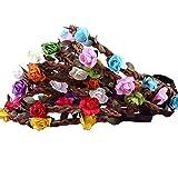 Foonii 10pz Boho Stile Fata Fiori Fascia del Fiore per le Ragazze Neonate Fasce di Nozze Festival del Partito treccia della fascia dei capelli