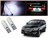 #4: Auto Pearl - LED Parking Bulb Pilot Light / Daytime Running Lens Led Licence Plate Light T10-5050 (White) For - Toyota Innova 2013-2015