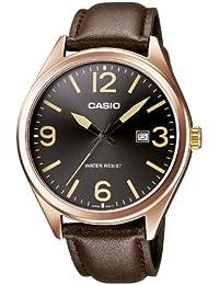 Casio MTP-1342L-1B2EF - Reloj analógico de cuarzo para hombre con correa de piel, color marrón