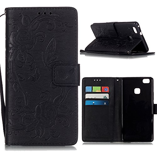 "Coque iPhone 6 Plus /iPhone 6S Plus (5.5""), Linvei® étui Housse iPhone 6 Plus/6S Plus Cuir étui with Silicone Protective Phone Case for iPhone 6 Plus/6S Plus - gris Noir"