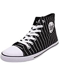 KOOK KEECH Men's Black And White High Top Shoes - 7 UK