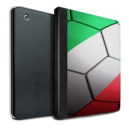 Stuff4® PU-Leder Hülle/Case/Brieftasche für Apple iPad 2/3/4 Tablet/Italien Muster/Fußball Nationen Kollektion