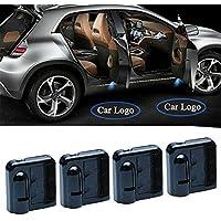 Luces inalámbricas para puerta de coche, proyector de bienvenida, 4 unidades