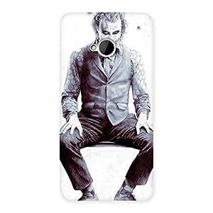 White Insane Multicolor Back Case Cover for HTC One M7