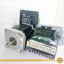 Act Motor GmbH 1Axis CNC Kit nema34Stepper Motor 34hs1456passo motore 5.6a 116mm 8.4N.M + 1pc Power Supply 350W 60V + 1PCS dm860driver con 1pc cavo breakout Board e 24–80VDC 6a 256Micro Steps