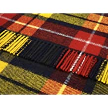 Highland Tweeds - made in the UK Buchanan Tartan Laine de Voyage Tapis  Couverture de Pique 2bcf110d7e1