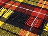 Buchanan Tartán Lana–Alfombra de viaje Picnic manta británico fabricado por Bronte