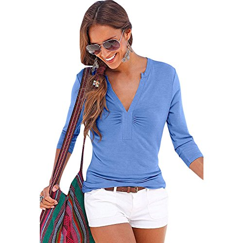 MEINICE Damen Kapuzenpullover Blau blau Gr. Small, blau (Studded Jeans Fit)