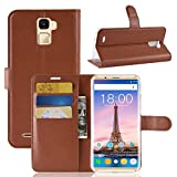 Oukitel K5000 case, Simple Wallet Cover GOGME, Premium PU Leather Flip Handset Shell With stand and card slots. brown