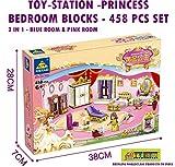 TOY-STATION - Special Type Blocks (Princess Bedroom 458 PCS Blocks for Girls)