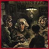 Vincent Van Gogh Poster Kunstdruck und Kunststoff-Rahmen - Die Kartoffelesser, 1885 (40 x 40cm)