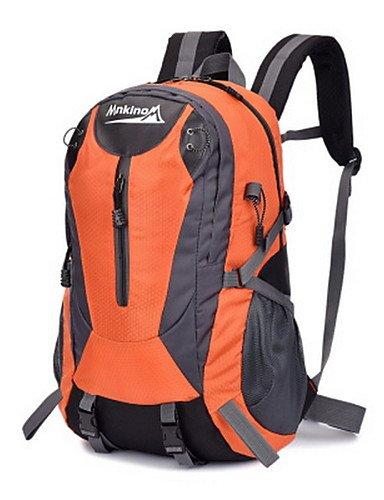 HWB/ 35L L Tourenrucksäcke/Rucksack Camping & Wandern / Klettern Draußen Multifunktions Grün / Rot / Schwarz / Blau / Orange Nylon No Orange