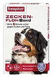 beaphar 12173 Zecken-Flohband Hund extra lang, Wirkt 8 Monate gegen Zecken und Flöhe, Wasserfest, 75 cm (XL), Weiß