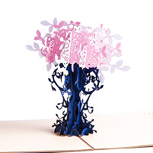 heartmoon Mother 's Day Pop Up Karten-3D Pop up Thank You Love Jahrestag Hochzeit Urlaub Karten-3D Graduation Congratulations Grußkarten alle Anlass