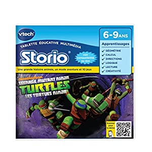 VTECH Jeu Storio 2 - Turtles, les tortues ninja