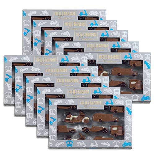 10er SET Schokolade Oldtimer Geschenkpackung Edelvollmilch 100 g