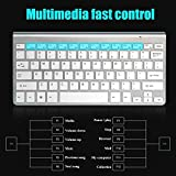 Wireless Tastatur Maus Set 2.4Hz Ultra Dünne Kabellos Aufladbar Tastatur und Maus für Laptop PC Tablet und Smart TV