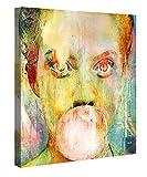 Premium Leinwanddruck 80x80 cm – Bubblegum Girl – XXL Kunstdruck Auf Leinwand Auf 2cm Holz-Keilrahmen – Handgemachte Fotoleinwand In Deutsche Markenqualität Für Wohn- Und Schlafzimmer Von Joe Ganech X Gallery Of Innovative Art