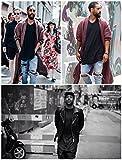 PIZOFF Unisex Hip Hop urban Basic Langärmliges lang Geschnittener Jersey Sweat T-Shirt mit Abgerundeter Saum Y1195-Black-M
