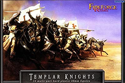 Fireforge Games 002 - 12x Templar Knights - 28mm Crusader Minatures on Horse - Deus Vult Cavalry Figures