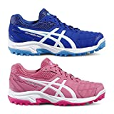 Asics Gel-Lethal Field 2 Gs Junior Zapatos de Hockey Deportes Zapatillas Entrenadores Asi, Rojo/Amarillo, 37.5