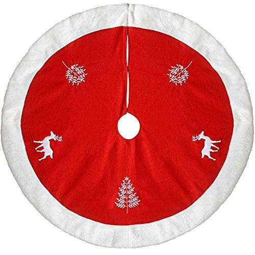 WeRChristmas–Figura de reno decoración para base de árbol de Navidad, color rojo...