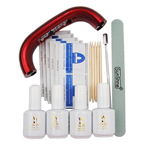 Coscelia9W USB Ligne Mini Lampe à Séchoir LED Rouge Vernis à Ongles Semi-Permanent Outils Kit