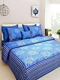 #1: Bedding King Original Rajasthani Traditional Print 100% Pure Cotton King Size Bedsheet for Double bed with 2 Pillow Covers