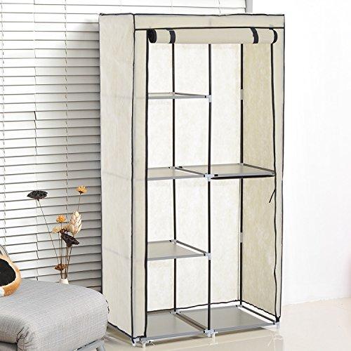 homcom-portable-double-non-woven-fabric-canvas-wardrobe-clothes-hanging-rail-storage-rack-6-shelves-