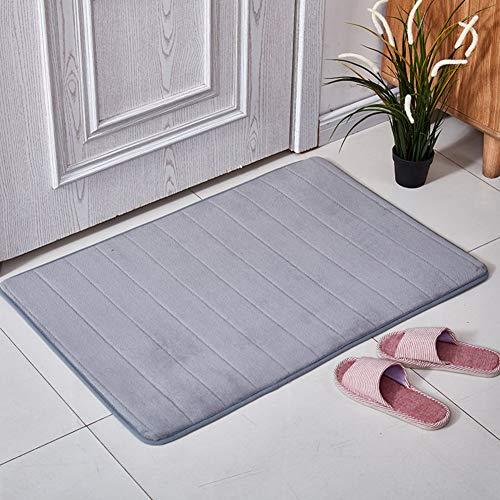 CAIXIN Absorbierenden Nicht-Slip Mat Memory-Schaum Badezimmer Teppich,weiches Gemütlich Dauerhaft Fußmatten Küche Bodenmatratze Maschine Waschbar-grau 80x120cm(31x47inch) (Badezimmer-teppiche-memory-schaum)