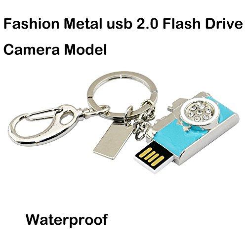Civetman 8GB Mini-Kamera USB-Stick Blue Crystals Storage Memory Stick