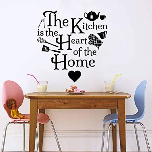 Küche Herz Home Icons Zitat Wandtattoo Vinyl Kunst Aufkleber Wohnkultur Wohnzimmer Dekoration Esszimmer Kunst Poster 42 * 43 cm