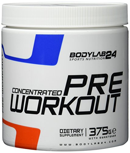 Bodylab24 Concentrated Pre Workout Geschmack: Schwarze Johannisbeere, der Booster für mehr Pump und Fokus bei Deinem Training oder Wettkampf, 375g