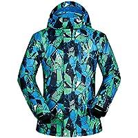 Chaqueta de esquí con Capucha de esquí Impermeable de los Hombres Tops Outdoor Climbing Coat Prendas de Vestir Exteriores